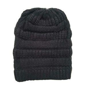 Knit Cap Dark Gray Winter Beanie